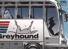 Zees grey hound bus